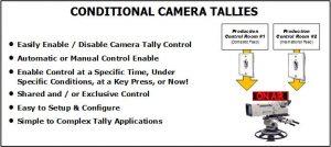 conditional camera tallies